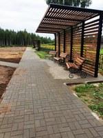 В конце августа завершилась 2 очередь обустройства парка общего пользования в пос. Бетлица на ул. Советская.